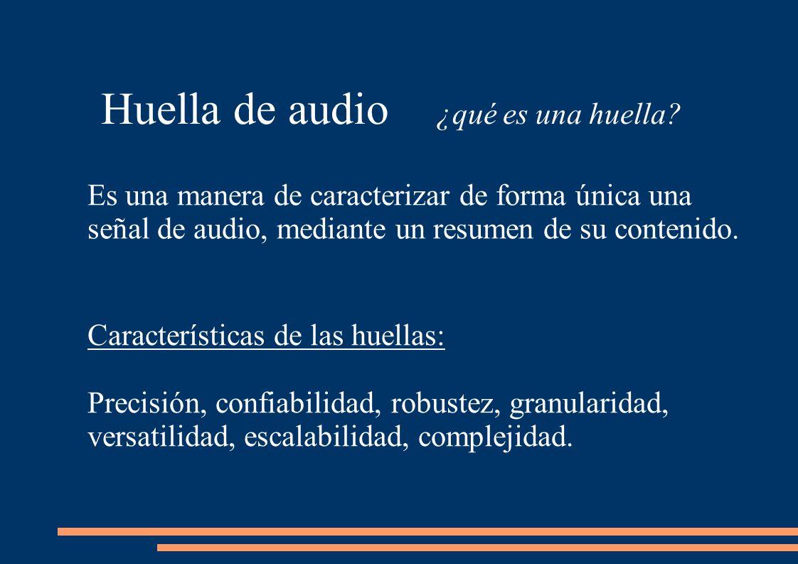 Huella de audio ¿qué es una huella.