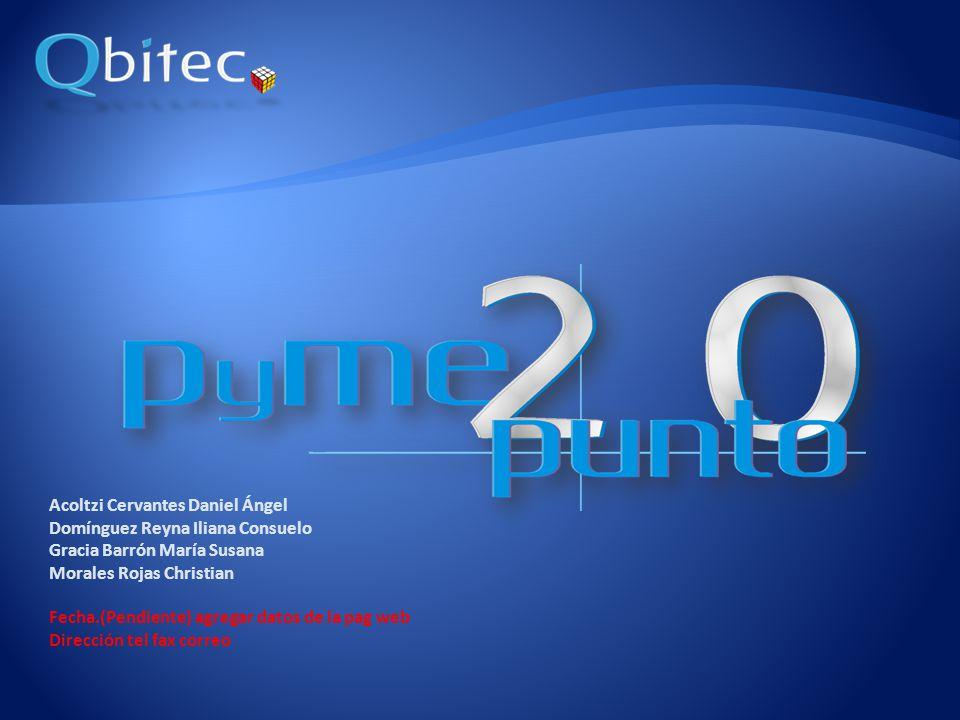 www.qbitec.com.mx Idea de Negocio Antecedentes La Empresa (internamente cubre: Mision Visión Valores Objetivos FODA y asi para cada punto).