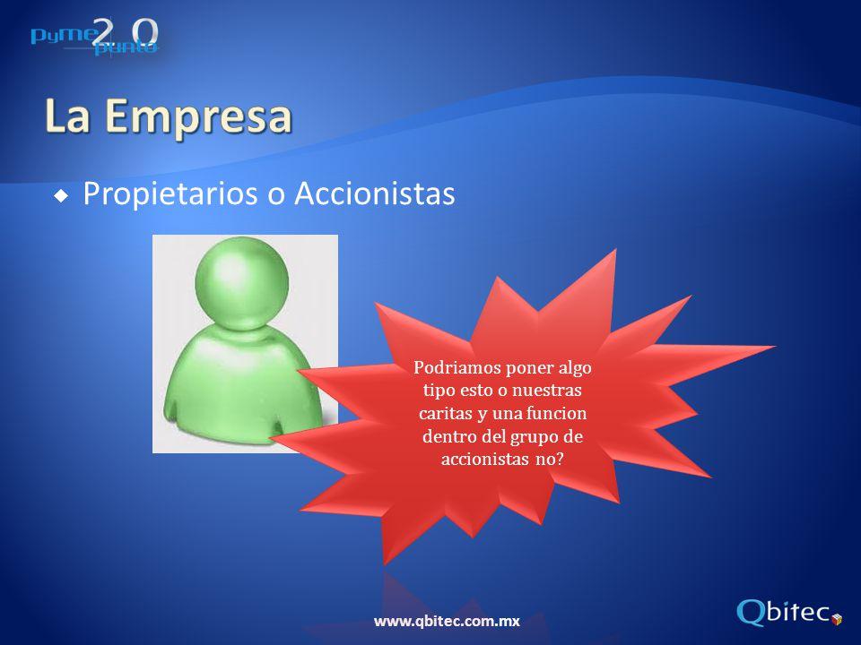 www.qbitec.com.mx Propietarios o Accionistas