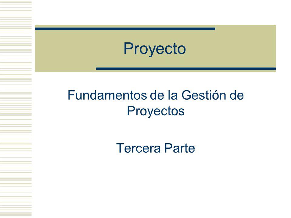 Proyecto Fundamentos de la Gestión de Proyectos Tercera Parte