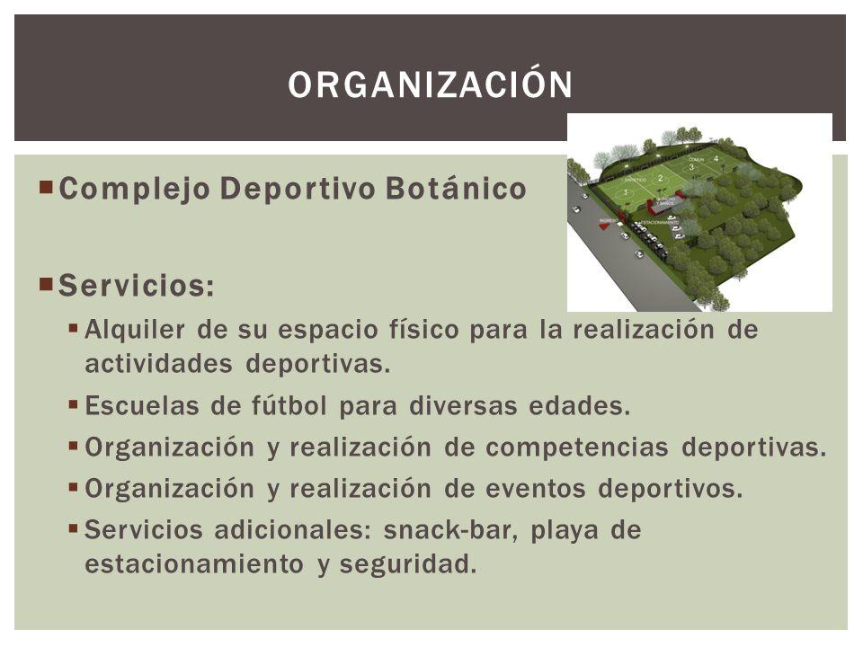 Complejo Deportivo Botánico Servicios: Alquiler de su espacio físico para la realización de actividades deportivas.