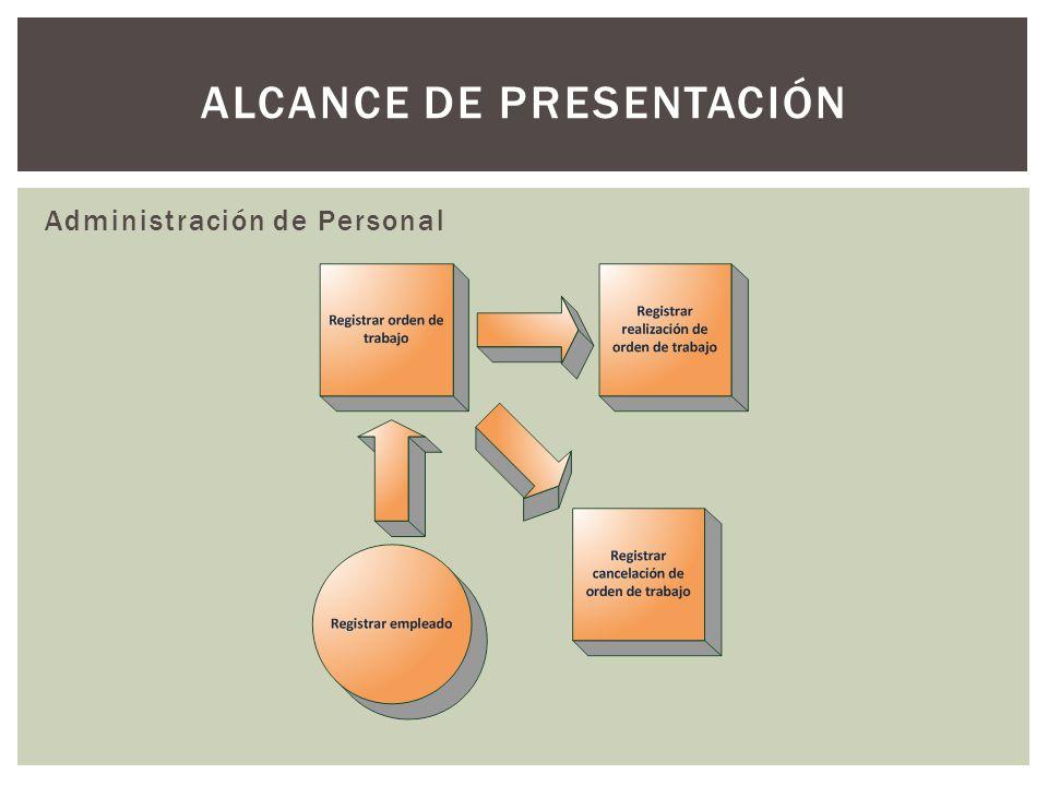 Administración de Personal ALCANCE DE PRESENTACIÓN