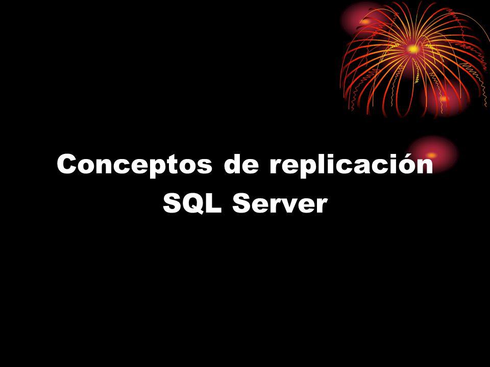 Conceptos de replicación SQL Server