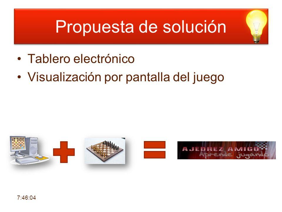 Propuesta de solución Tablero electrónico Visualización por pantalla del juego 7:47:43