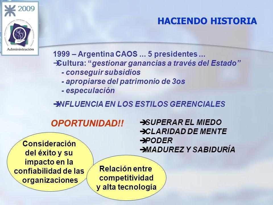 1999 – Argentina CAOS... 5 presidentes...