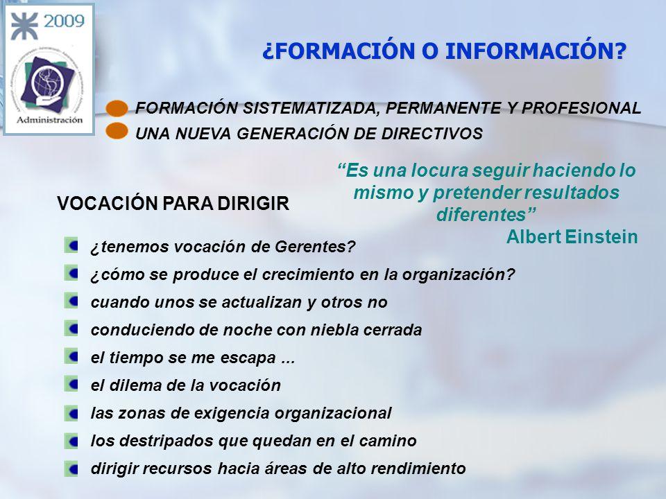 ¿FORMACIÓN O INFORMACIÓN.