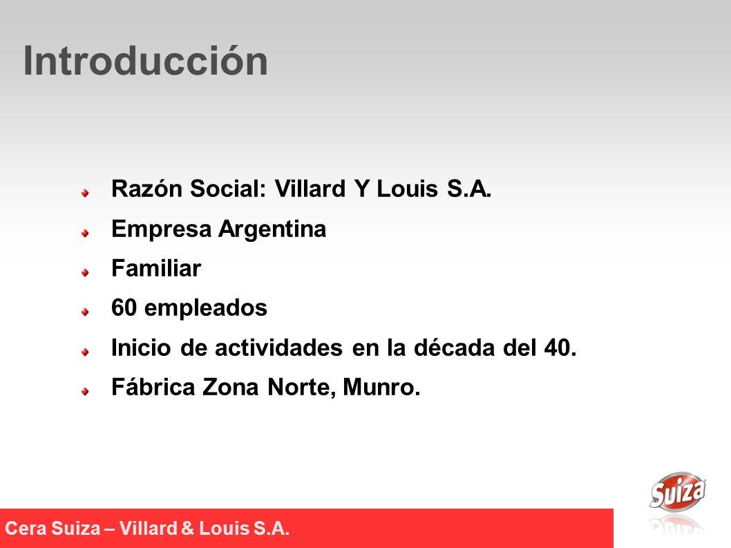 Razón Social: Villard Y Louis S.A.