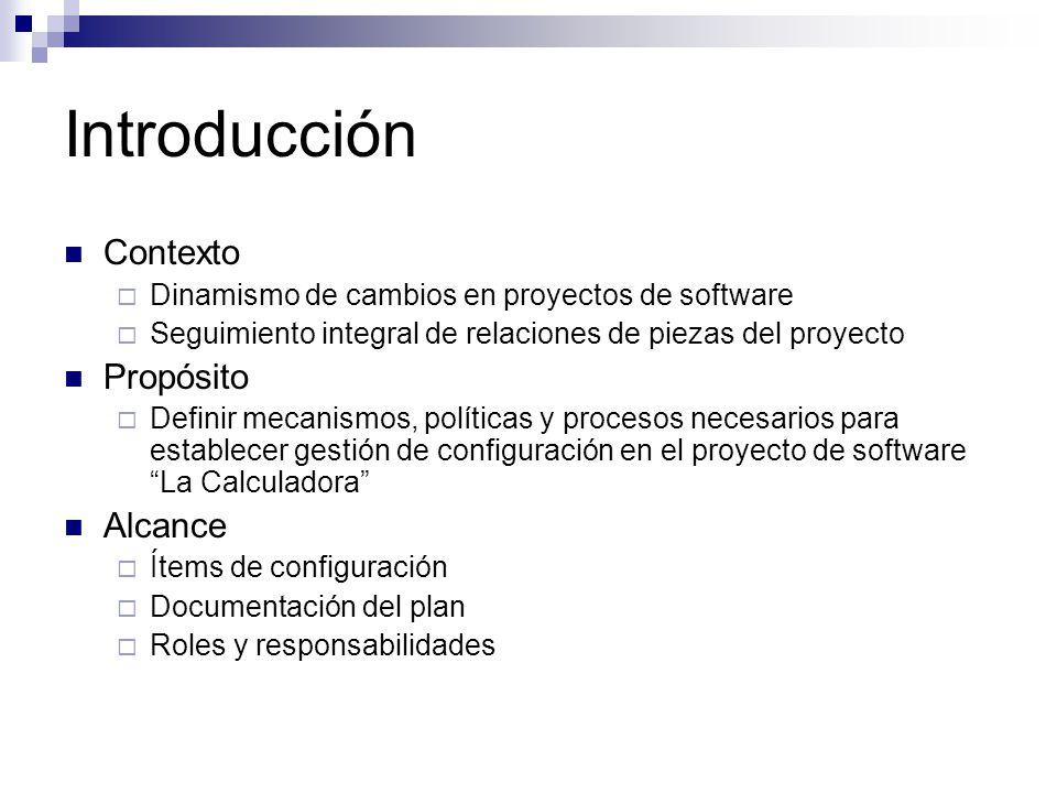 Introducción Contexto Dinamismo de cambios en proyectos de software Seguimiento integral de relaciones de piezas del proyecto Propósito Definir mecani