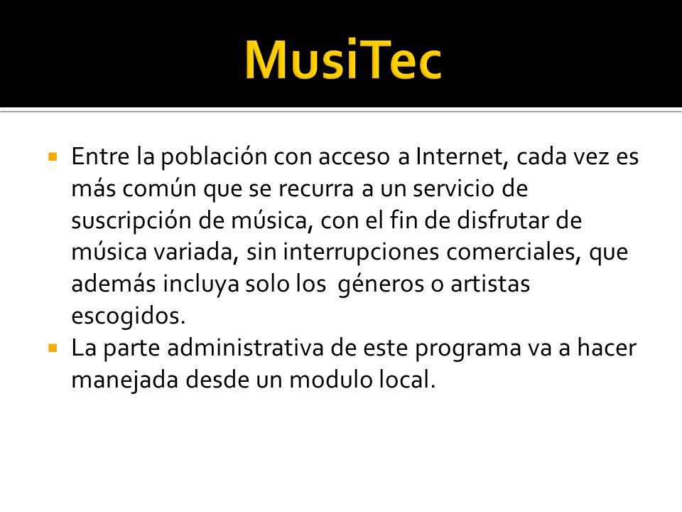 Entre la población con acceso a Internet, cada vez es más común que se recurra a un servicio de suscripción de música, con el fin de disfrutar de músi