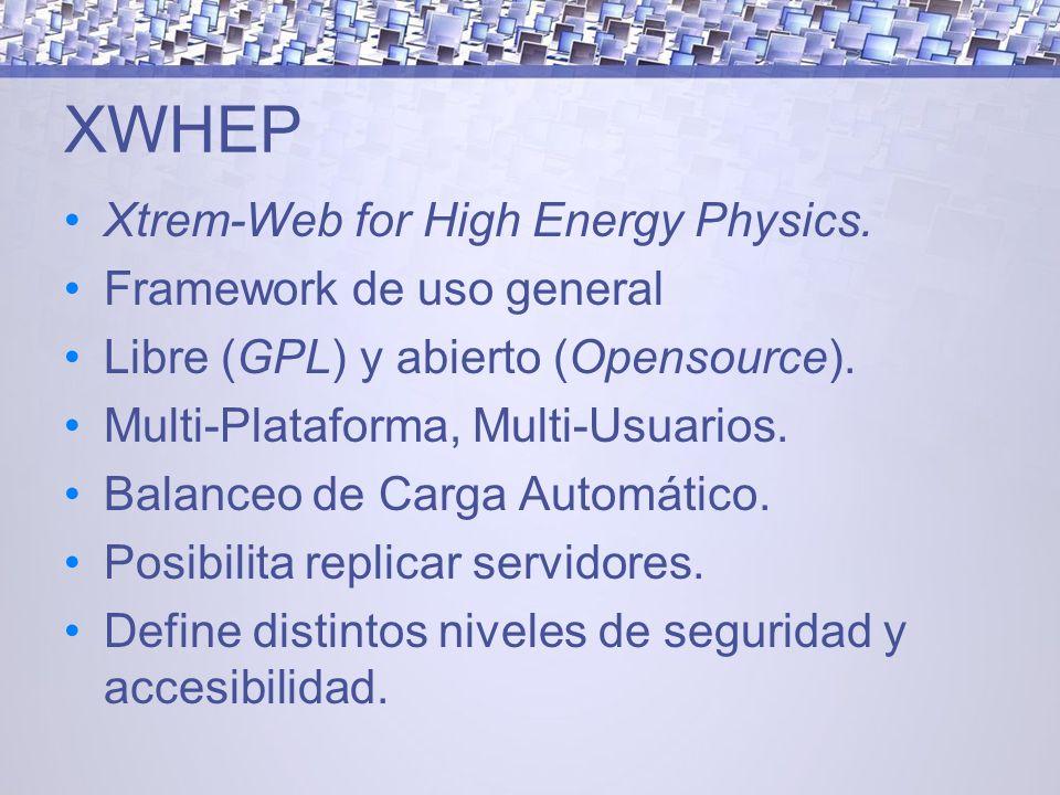 XWHEP Xtrem-Web for High Energy Physics.