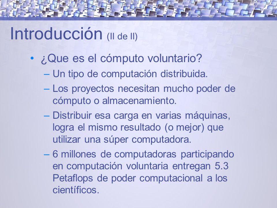 Introducción (II de II) ¿Que es el cómputo voluntario.