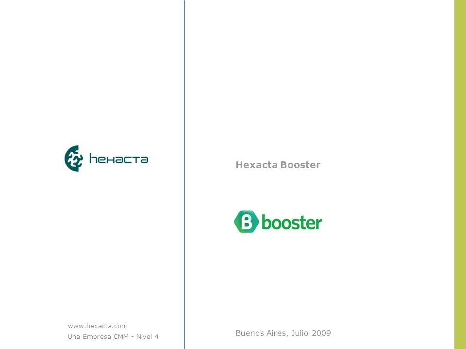 Hexacta Booster Buenos Aires, Julio 2009 [logotipo del cliente] www.hexacta.com Una Empresa CMM - Nivel 4