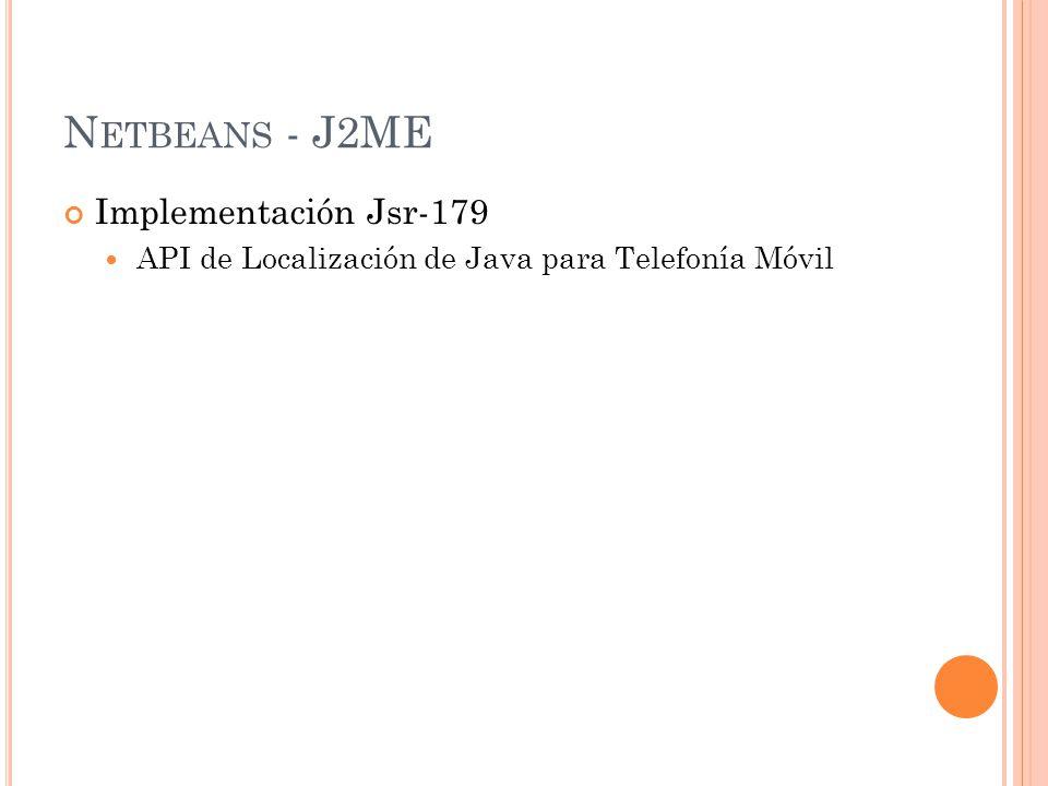 N ETBEANS - J2ME Implementación Jsr-179 API de Localización de Java para Telefonía Móvil.