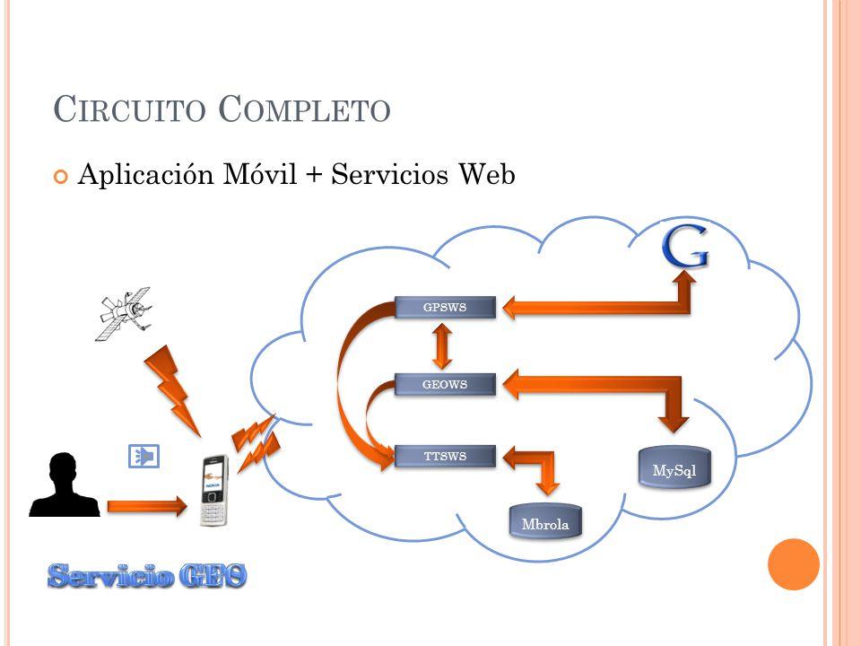 N ETBEANS - J2SE Servicios Web Ubicación de Puntos de Interés Determinar Ubicación Origen Determinar Radio de 400 mts.