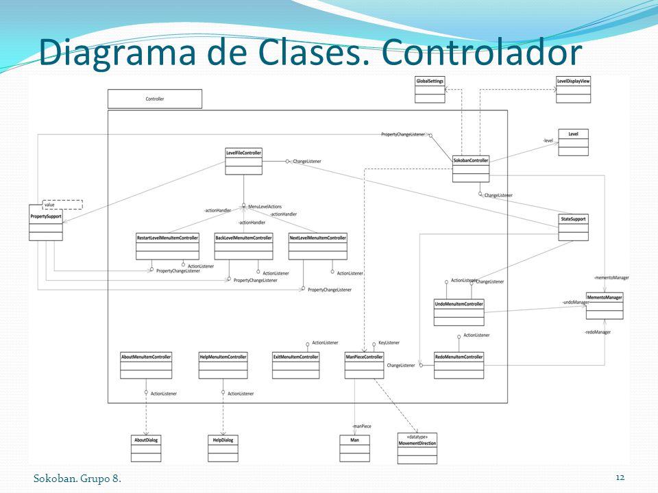 Diagrama de Clases. Controlador Sokoban. Grupo 8. 12