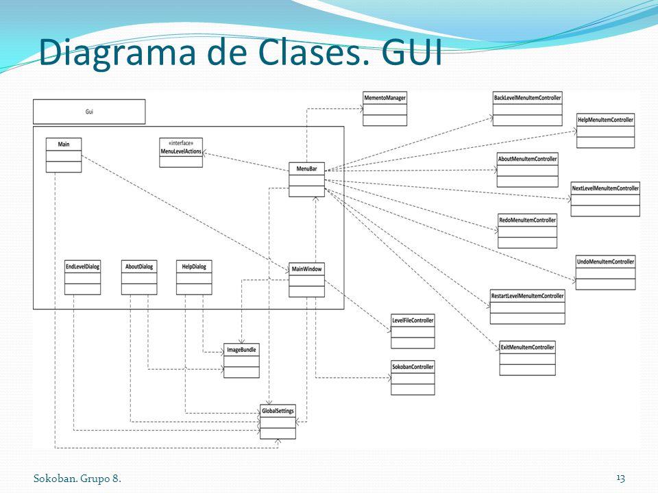 Diagrama de Clases. GUI Sokoban. Grupo 8. 13
