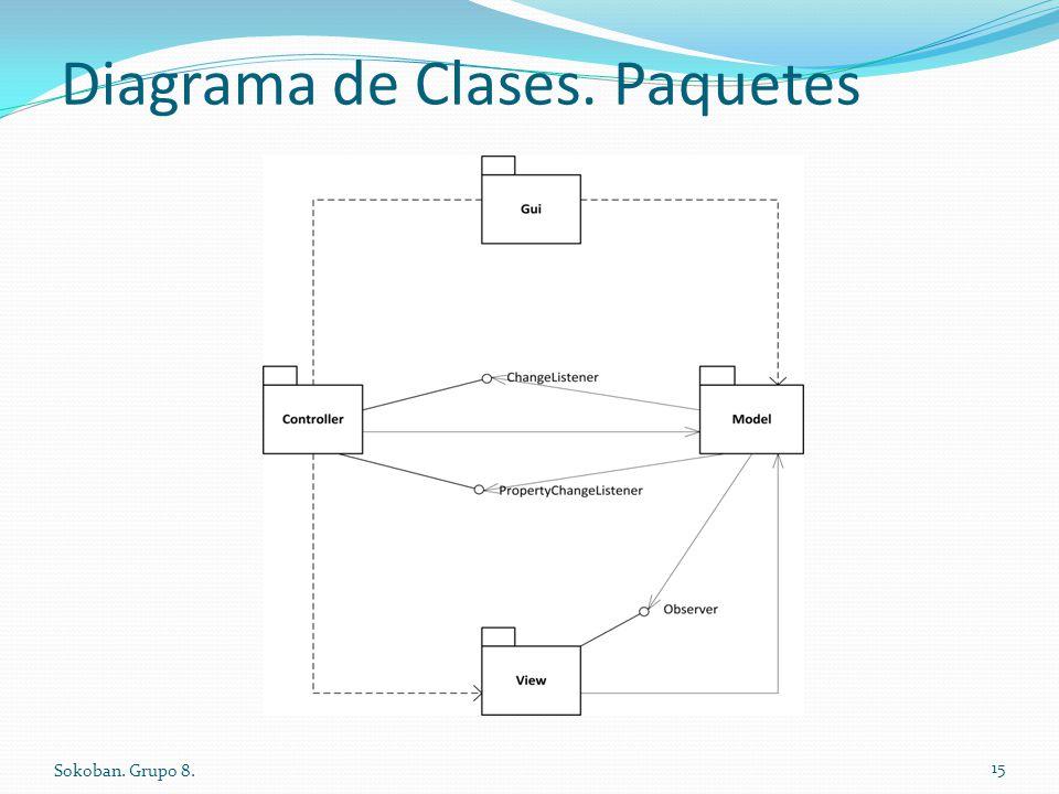 Diagrama de Clases. Paquetes Sokoban. Grupo 8. 15