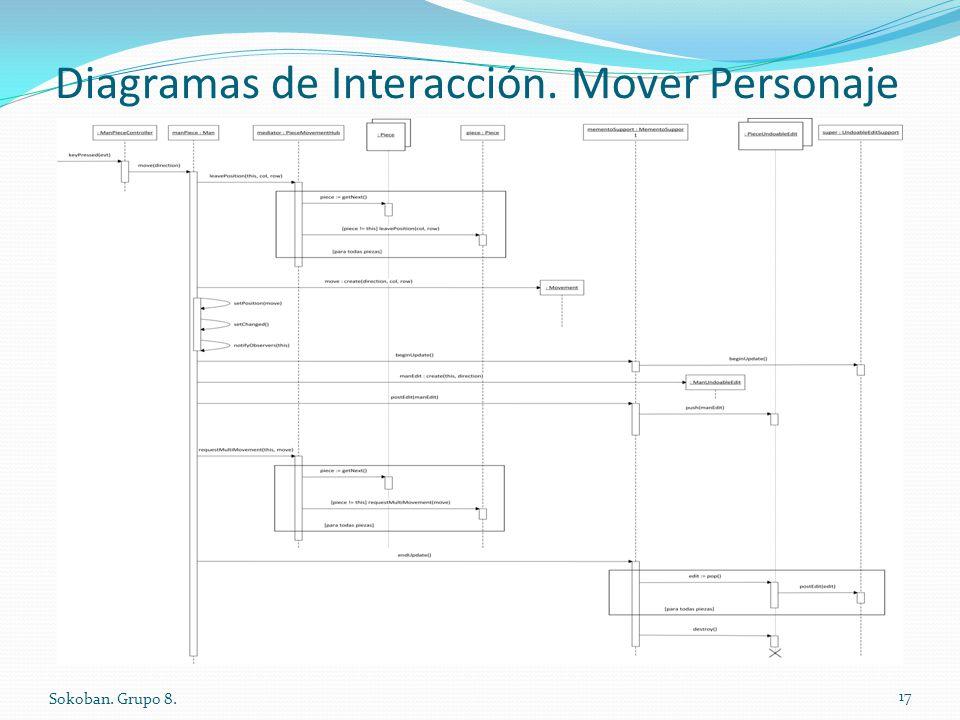 Diagramas de Interacción. Mover Personaje Sokoban. Grupo 8. 17