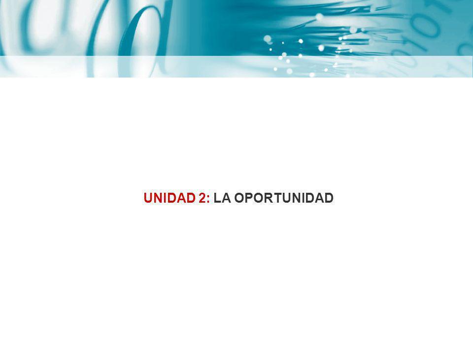 UNIDAD 2: LA OPORTUNIDAD