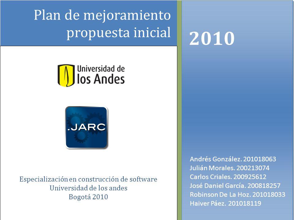 Plan de mejoramiento propuesta inicial 2010 Andrés González.