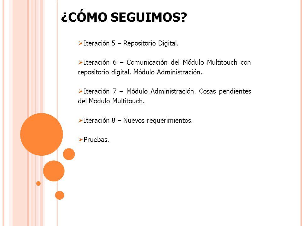 ¿CÓMO SEGUIMOS. Iteración 5 – Repositorio Digital.