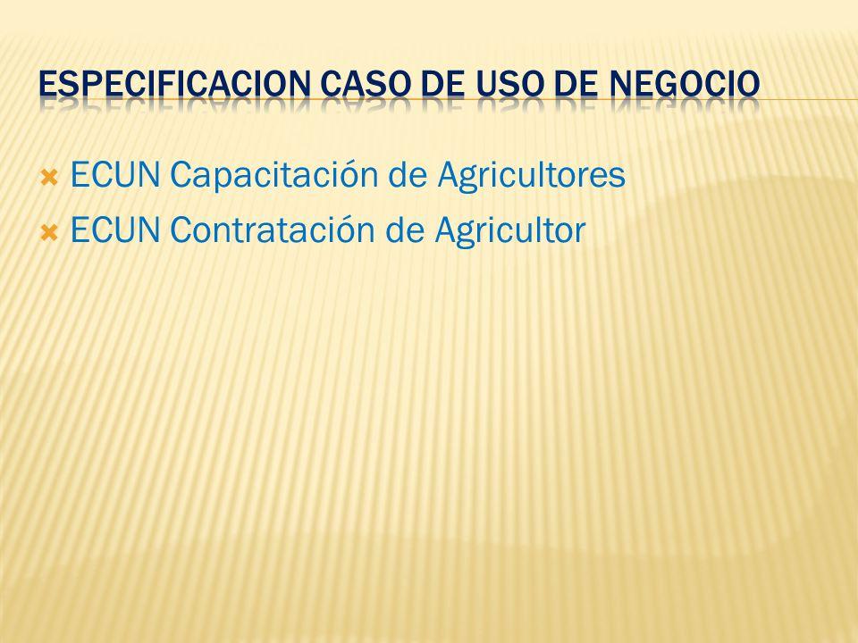 ECUN Capacitación de Agricultores ECUN Contratación de Agricultor