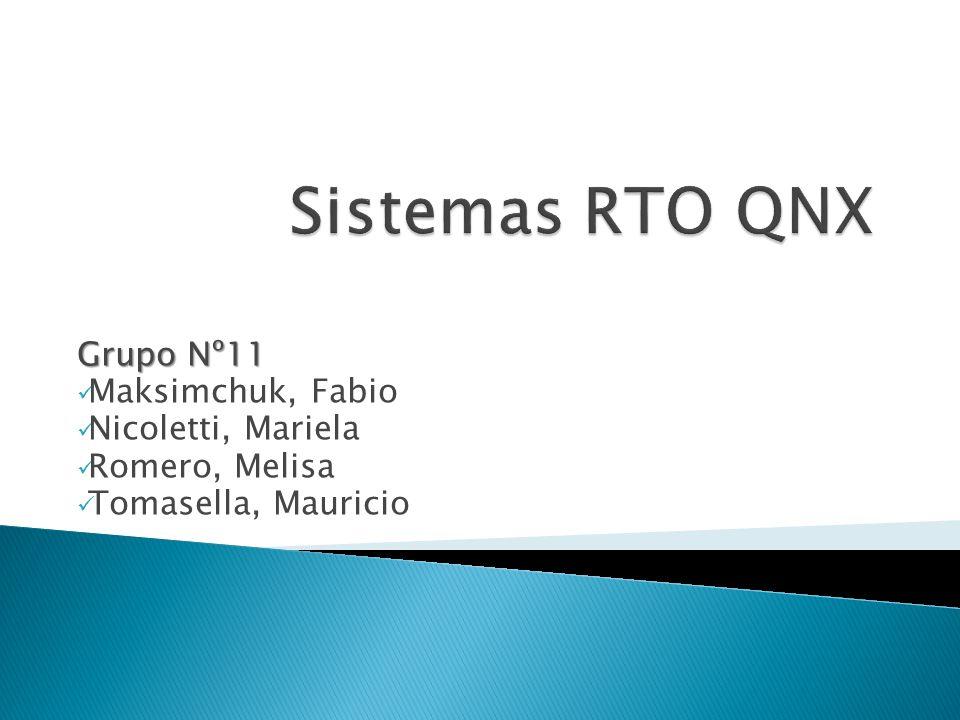 Grupo Nº11 Maksimchuk, Fabio Nicoletti, Mariela Romero, Melisa Tomasella, Mauricio