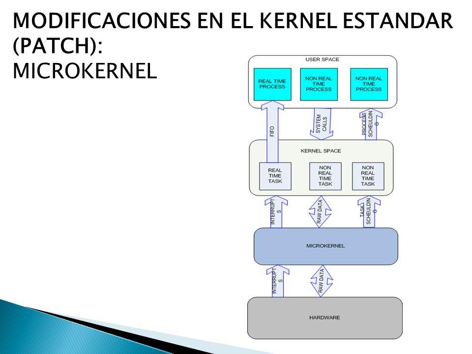 MODIFICACIONES EN EL KERNEL ESTANDAR (PATCH): MICROKERNEL