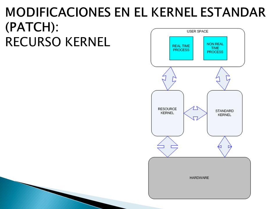 MODIFICACIONES EN EL KERNEL ESTANDAR (PATCH): RECURSO KERNEL