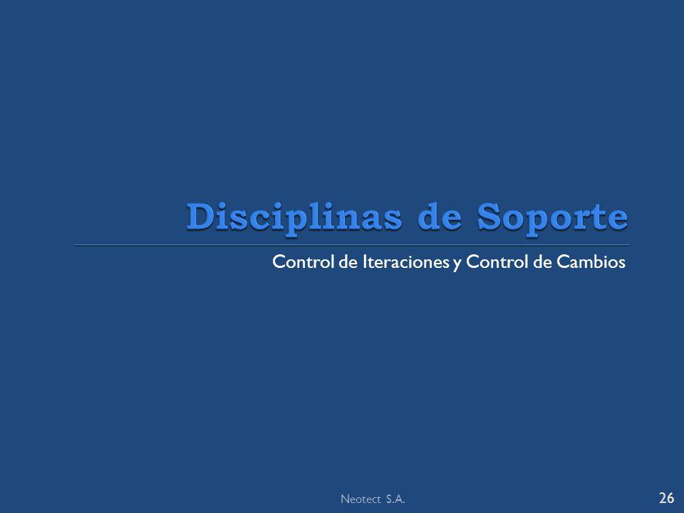 Control de Iteraciones y Control de Cambios 26 Neotect S.A.