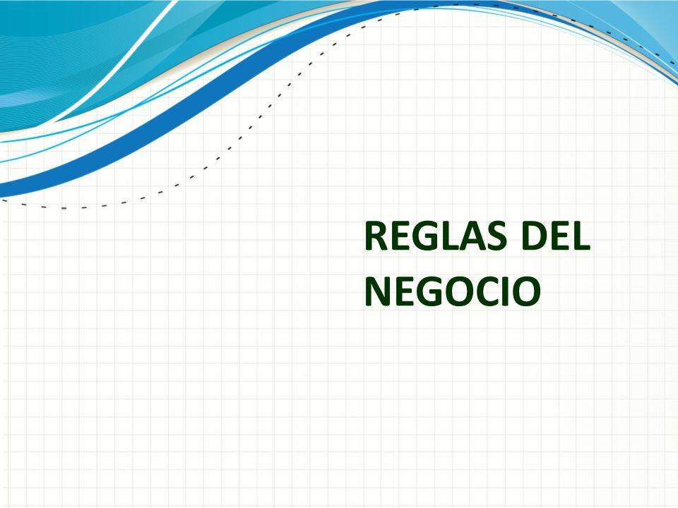 REGLAS DEL NEGOCIO