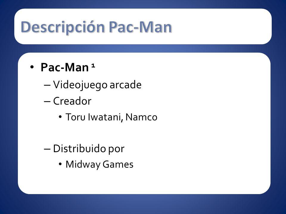 Pac-Man 1 – Videojuego arcade – Creador Toru Iwatani, Namco – Distribuido por Midway Games