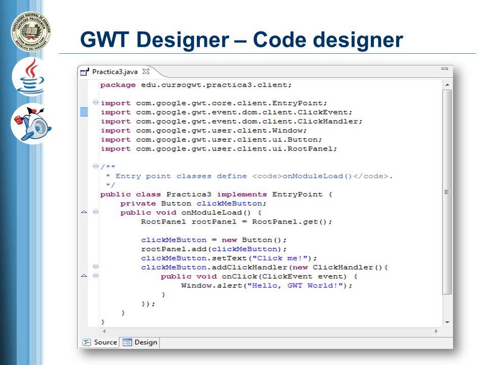 GWT Designer – Code designer