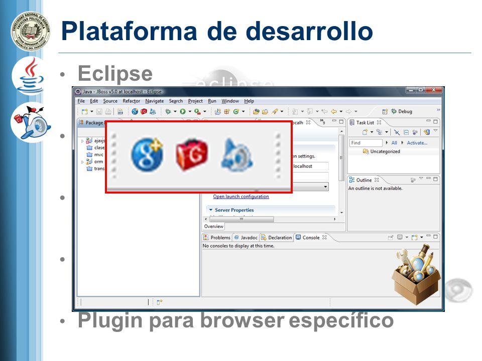 Ejercicio 2 1 - Comentar la linea: // RootPanel rootPanel = RootPanel.get(); 2- En el HTML host (/TestDesigner/war/TestDesigner.html): 3- En el java client: