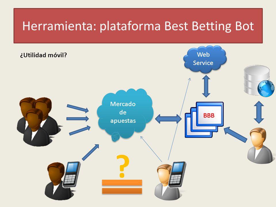 Herramienta: plataforma Best Betting Bot ¿Utilidad móvil? Mercado de apuestas Web Service BBB ?