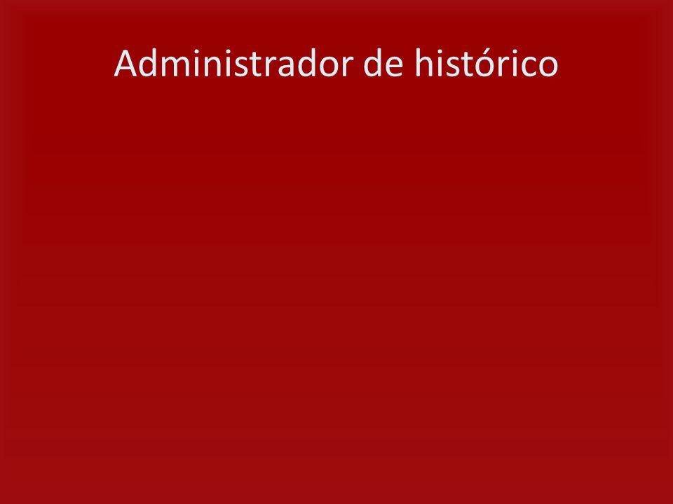 Administrador de histórico