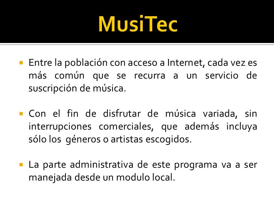 Entre la población con acceso a Internet, cada vez es más común que se recurra a un servicio de suscripción de música.
