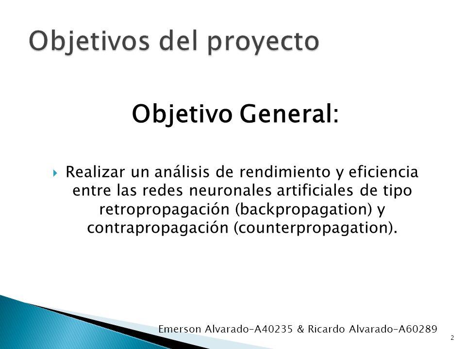 Objetivo General: Realizar un análisis de rendimiento y eficiencia entre las redes neuronales artificiales de tipo retropropagación (backpropagation)