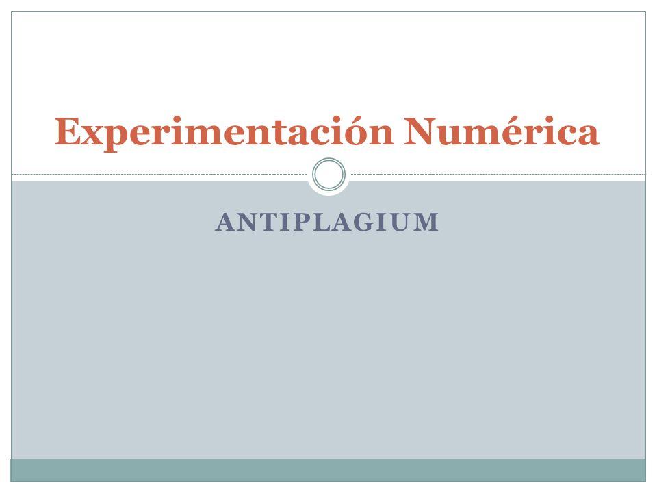 ANTIPLAGIUM Experimentación Numérica