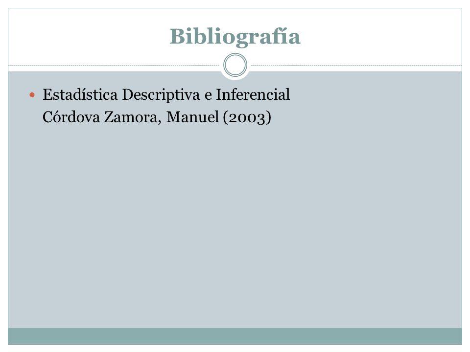 Estadística Descriptiva e Inferencial Córdova Zamora, Manuel (2003)