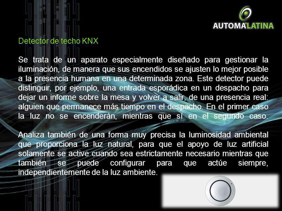 Detector de techo KNX Se trata de un aparato especialmente diseñado para gestionar la iluminación, de manera que sus encendidos se ajusten lo mejor po