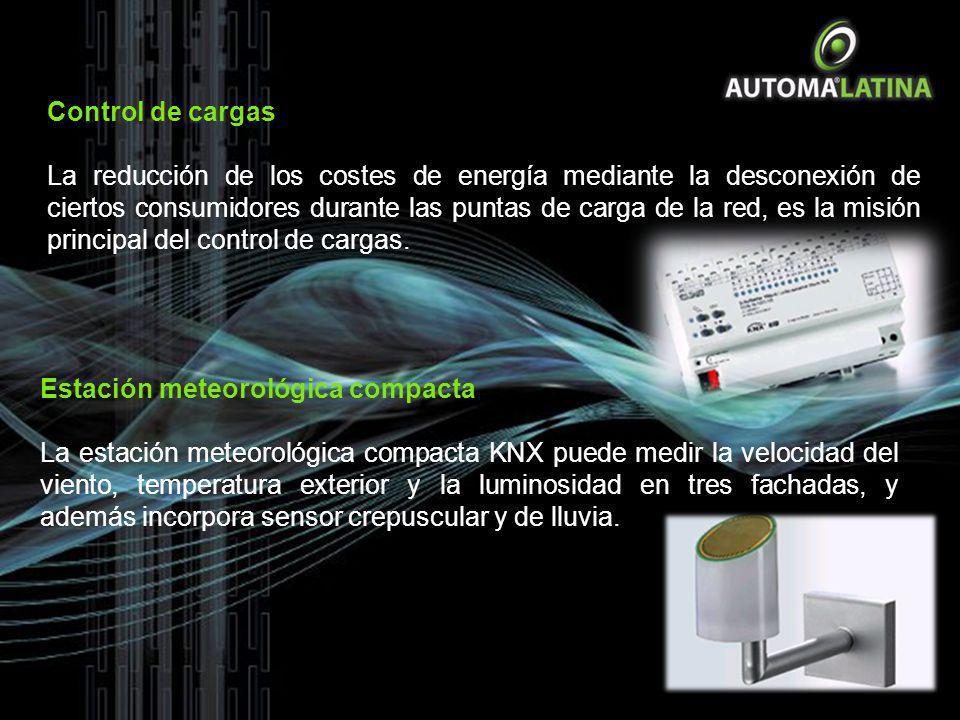 Control de cargas La reducción de los costes de energía mediante la desconexión de ciertos consumidores durante las puntas de carga de la red, es la m