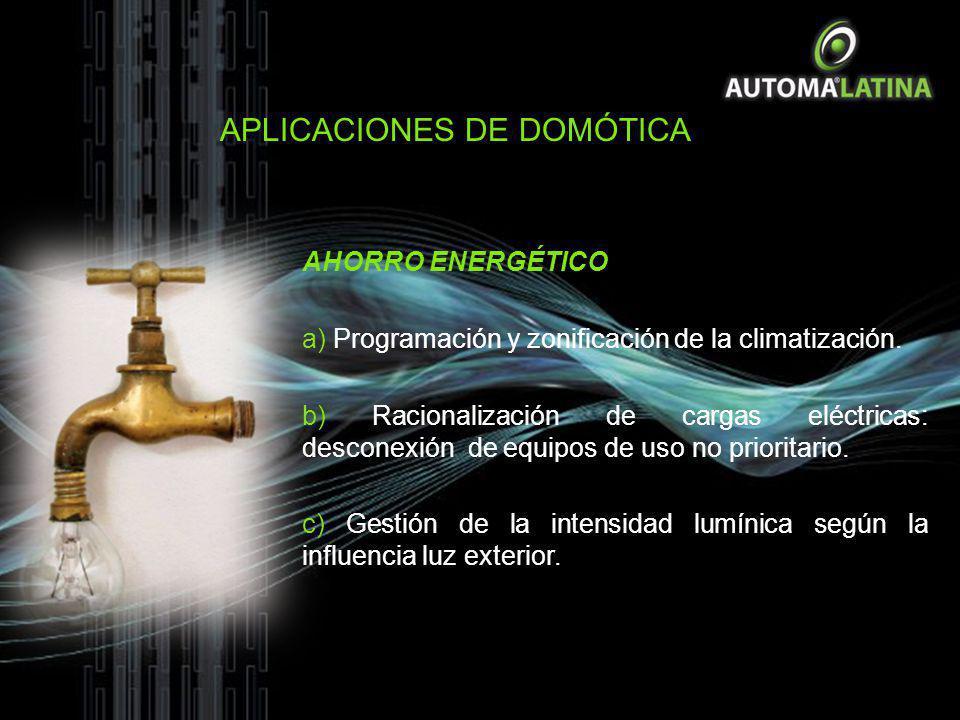 AHORRO ENERGÉTICO a) Programación y zonificación de la climatización. b) Racionalización de cargas eléctricas: desconexión de equipos de uso no priori