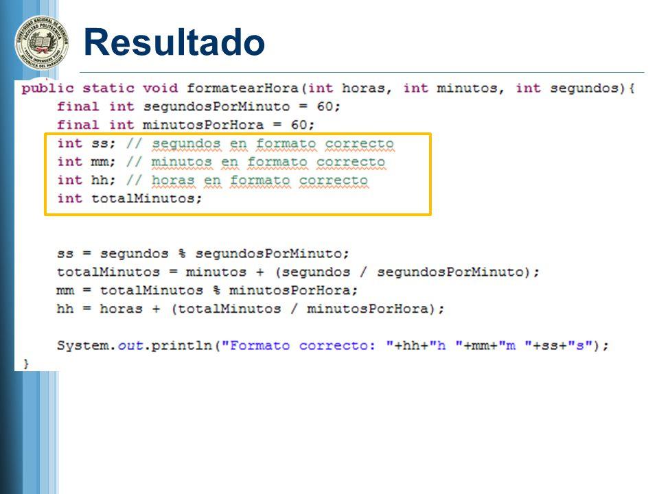 If() / else Ejemplo public class TestIf { public static void main( String[] args ) { int edad = 20; if ( edad <= 12 ) { System.out.println( Niño ); } else if ( edad <= 19 ) { System.out.println( Adolescente ); } else if ( edad <= 60 ) { System.out.println( Adulto ); } else { System.out.println( Anciano ); }