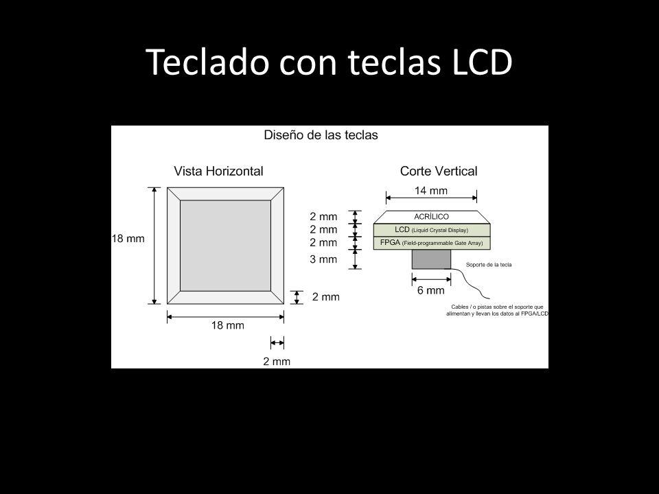 Teclado con teclas LCD