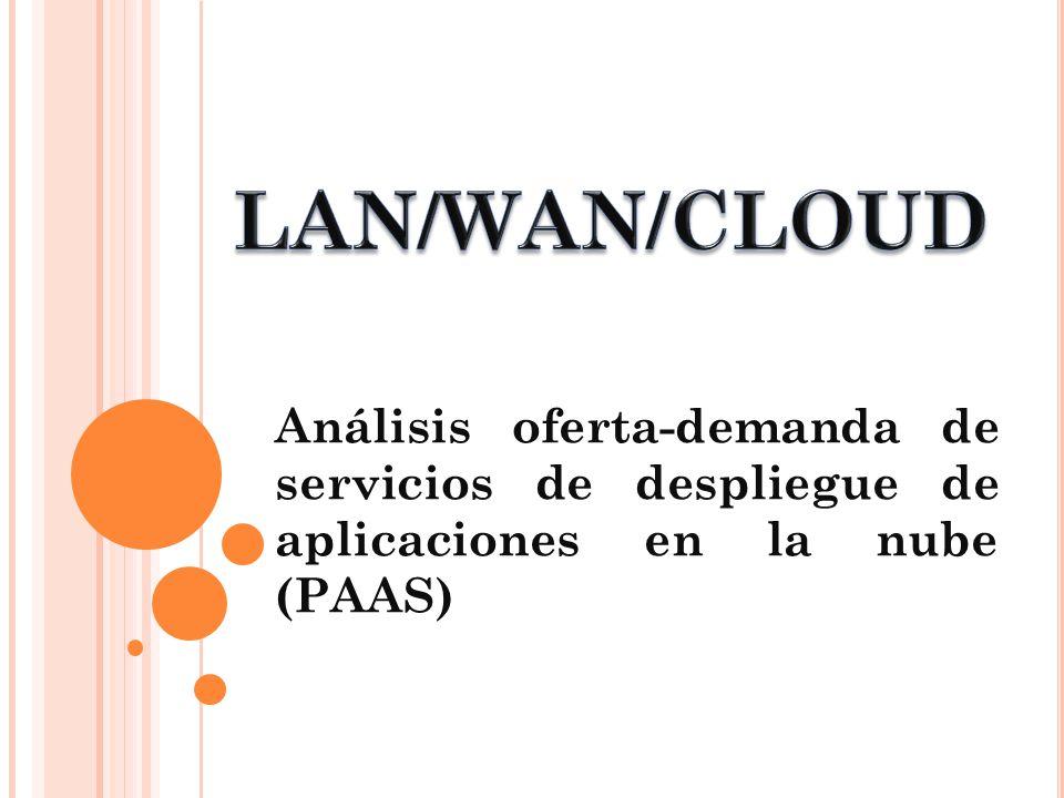Análisis oferta-demanda de servicios de despliegue de aplicaciones en la nube (PAAS)