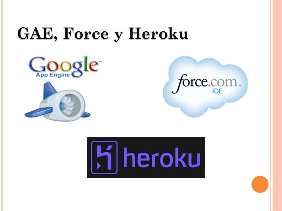 GAEGoogle App Engine GAE Google App Engine Soporte de múltiples lenguajes de programación Integrado con todos los servicios de Google Integrado con Google PageRank Alta escalabidad y disponibilidad Soporte SSL y TLS Soporte HTML 5 con WebSockets Javascript de alta performance Soporte de Single-Sign-On