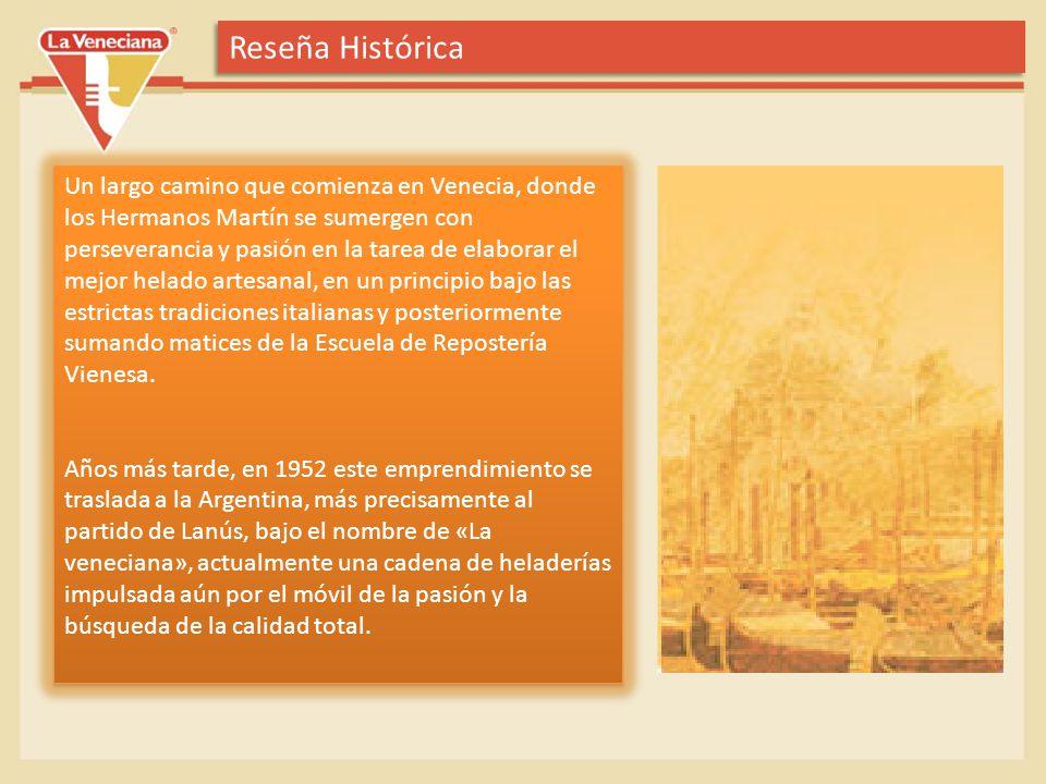 Reseña Histórica Un largo camino que comienza en Venecia, donde los Hermanos Martín se sumergen con perseverancia y pasión en la tarea de elaborar el