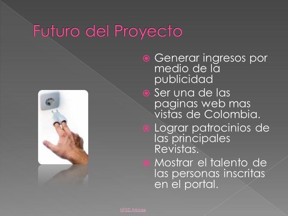 Generar ingresos por medio de la publicidad Ser una de las paginas web mas vistas de Colombia. Lograr patrocinios de las principales Revistas. Mostrar