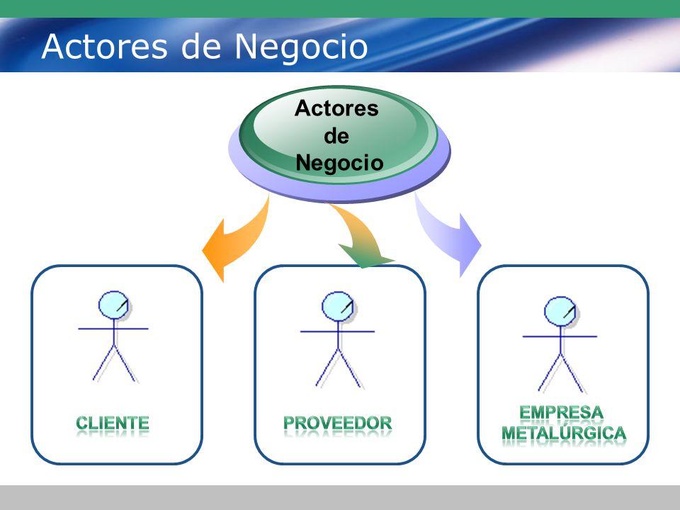 Actores de Negocio Actores de Negocio